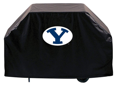 BYU Cougars HBS Black Outdoor Heavy Duty Breathable Vinyl BBQ Grill Cover