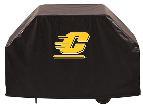 Central Michigan Chippewas HBS Black Outdoor Heavy Duty Vinyl BBQ Grill Cover