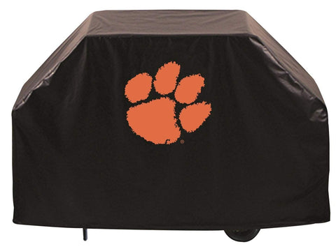 Shop Clemson Tigers HBS Black Outdoor Heavy Duty Breathable Vinyl BBQ Grill Cover