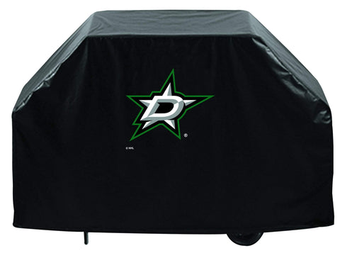 Dallas Stars HBS Black Outdoor Heavy Duty Breathable Vinyl BBQ Grill Cover