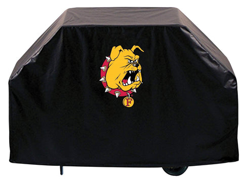 Ferris State Bulldogs HBS Black Outdoor Heavy Duty Vinyl BBQ Grill Cover