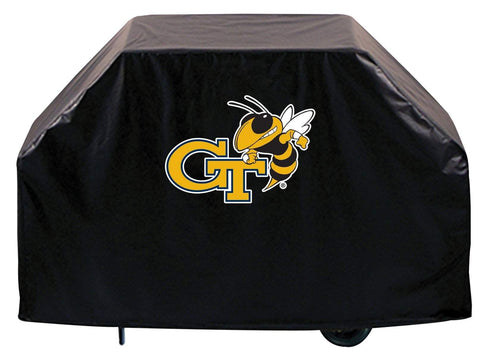 Georgia Tech Yellow Jackets HBS Black Outdoor Heavy Vinyl BBQ Grill Cover