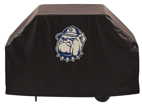 Georgetown Hoyas HBS Black Outdoor Heavy Duty Breathable Vinyl BBQ Grill Cover