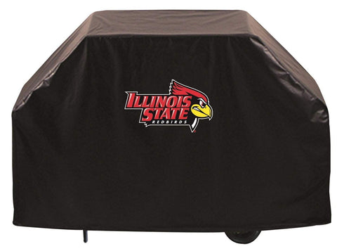 Illinois State Redbirds HBS Black Outdoor Heavy Duty Vinyl BBQ Grill Cover