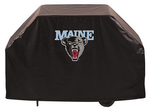 Maine Black Bears HBS Black Outdoor Heavy Duty Breathable Vinyl BBQ Grill Cover