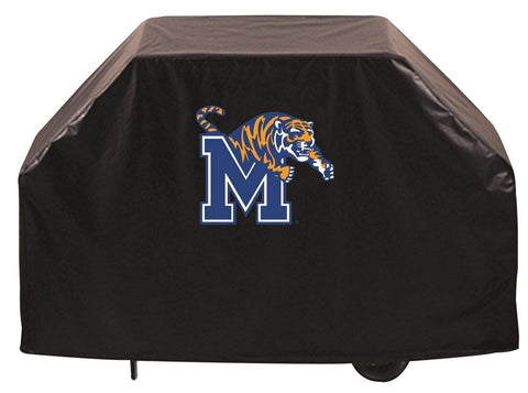 Memphis Tigers HBS Black Outdoor Heavy Duty Breathable Vinyl BBQ Grill Cover - Sporting Up