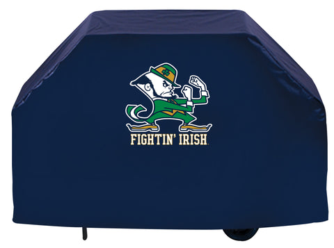 Shop Notre Dame Fighting Irish HBS Navy Outdoor Leprechaun Vinyl BBQ Grill Cover - Sporting Up