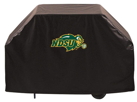 North Dakota State Bison HBS Black Outdoor Heavy Duty Vinyl BBQ Grill Cover