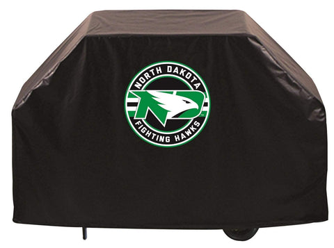 North Dakota Fighting Hawks HBS Black Outdoor Heavy Duty Vinyl BBQ Grill Cover - Sporting Up