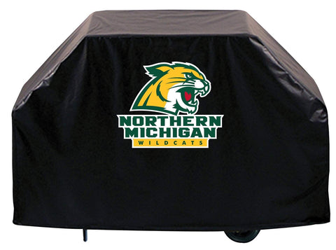 Northern Michigan Wildcats HBS Black Outdoor Heavy Duty Vinyl BBQ Grill Cover