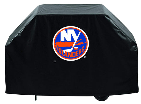 New York Islanders HBS Black Outdoor Heavy Duty Breathable Vinyl BBQ Grill Cover