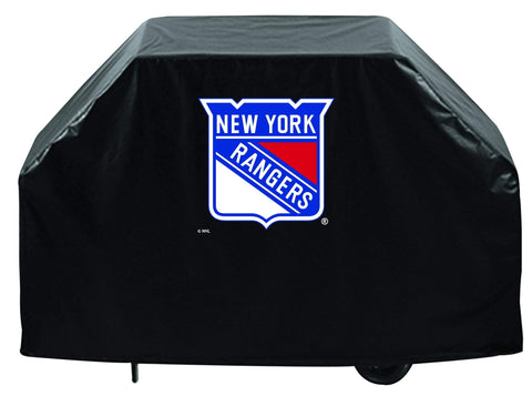 New York Rangers HBS Black Outdoor Heavy Duty Breathable Vinyl BBQ Grill Cover