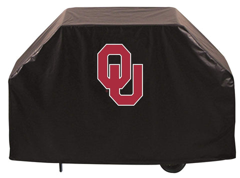 Oklahoma Sooners HBS Black Outdoor Heavy Duty Breathable Vinyl BBQ Grill Cover - Sporting Up