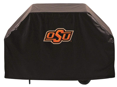 Oklahoma State Cowboys HBS Black Outdoor Heavy Duty Vinyl BBQ Grill Cover