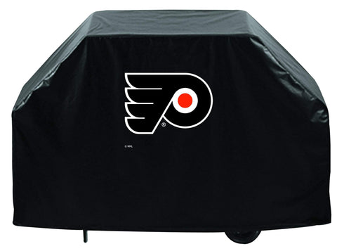 Shop Philadelphia Flyers HBS Black Outdoor Heavy Breathable Vinyl BBQ Grill Cover - Sporting Up