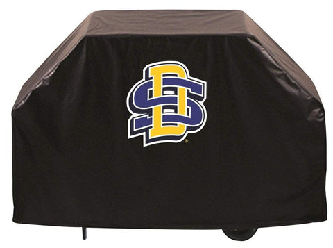South Dakota State Jackrabbits HBS Black Outdoor Heavy Vinyl BBQ Grill Cover