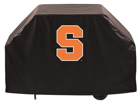 Syracuse Orange HBS Black Outdoor Heavy Duty Breathable Vinyl BBQ Grill Cover