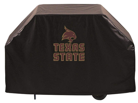 Texas State Bobcats HBS Black Outdoor Heavy Duty Vinyl BBQ Grill Cover