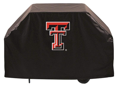Texas Tech Red Raiders HBS Black Outdoor Heavy Duty Vinyl BBQ Grill Cover