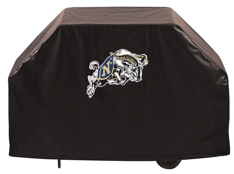 Navy Midshipmen HBS Black Outdoor Heavy Duty Breathable Vinyl BBQ Grill Cover