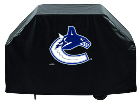 Vancouver Canucks HBS Black Outdoor Heavy Duty Breathable Vinyl BBQ Grill Cover