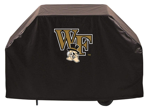 Wake Forest Demon Deacons HBS Black Outdoor Heavy Duty Vinyl BBQ Grill Cover - Sporting Up