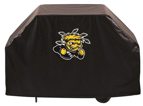 Wichita State Shockers HBS Black Outdoor Heavy Duty Vinyl BBQ Grill Cover
