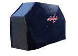 Washington Capitals HBS Black Outdoor Heavy Duty Vinyl BBQ Grill Cover - Sporting Up