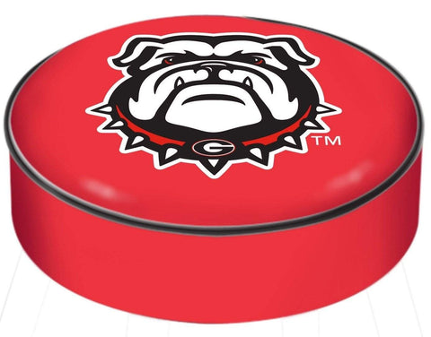 Georgia Bulldogs HBS Red Bulldog Vinyl Slip Over Bar Stool Seat Cushion Cover