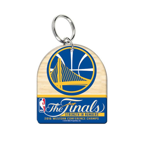 Golden State Warriors Wincraft 2016 The Finals Conference Champs Ring Keychain