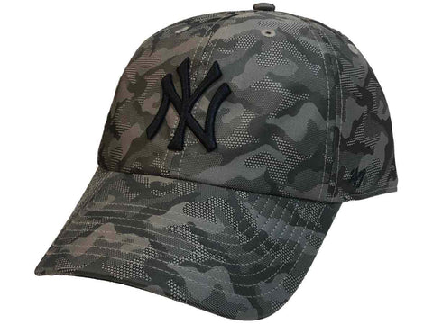 8dc0226a805 New York Yankees 47 Brand gray Camo Smokelin Clean Up Adjustable Slouch Hat  Cap ...
