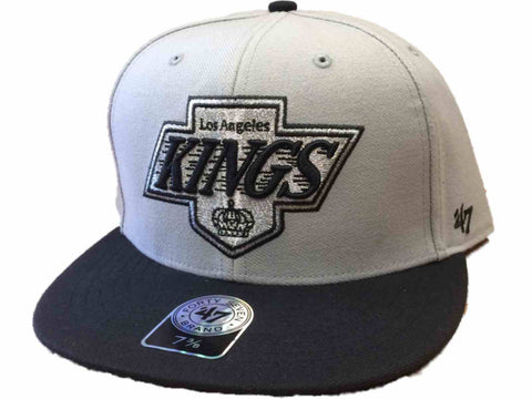 Shop Los Angeles Kings 47 Brand Gray Black Hole Shot Fitted Hat Cap