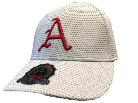 Shop Arkansas Razorbacks OC Sports Gray Contender Mesh Flexfit Hat Cap (M/L)