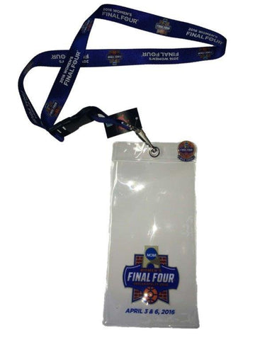 Shop 2016 NCAA Women's Final Four College Basketball Lanyard Ticket Holder Pin Set - Sporting Up