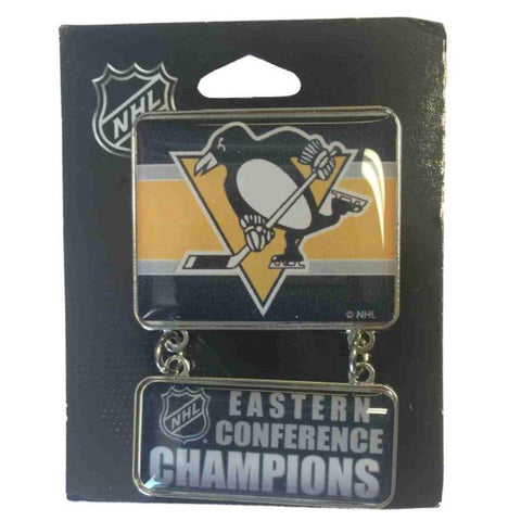 Pittsburgh Penguins 2016 Eastern Conference Champions NHL Dangle Metal Lapel Pin