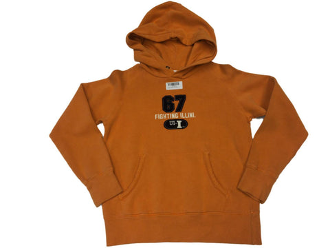 Shop Illinois Fighting Illini Youth Orange Sweatshirt Hoodie (L)