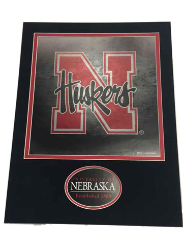 "Shop Nebraska Cornhuskers Pro Graphs Double Matted Red Black 11"" X 14"" Print - Sporting Up"