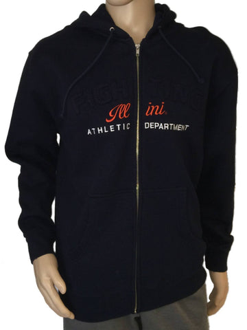 Shop Illinois Fighting Illini Step Ahead Zip Up Hoodie Navy Sweatshirt Jacket (M)