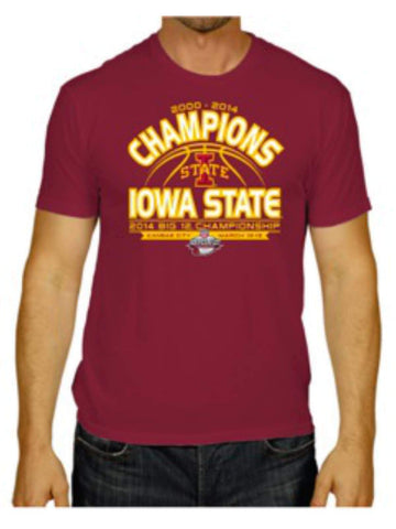 Iowa State Cyclones The Victory 2014 Big 12 Basketball Champions Red T-Shirt