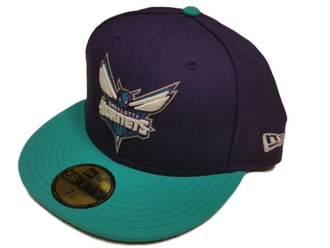 Shop Charlotte Hornets New Era Purple Teal Classic NBA Fitted Hat Cap