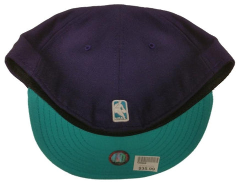e9404189d12 ... Charlotte Hornets New Era Purple Teal Classic NBA Fitted Hat Cap
