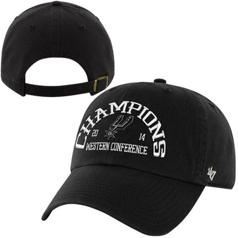 Shop San Antonio Spurs 47 Brand 2014 West Conference Champs Black Adjustable Hat Cap