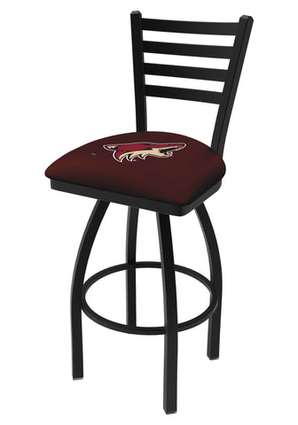 Shop Arizona Coyotes HBS Black Ladder Back High Top Swivel Bar Stool Seat Chair
