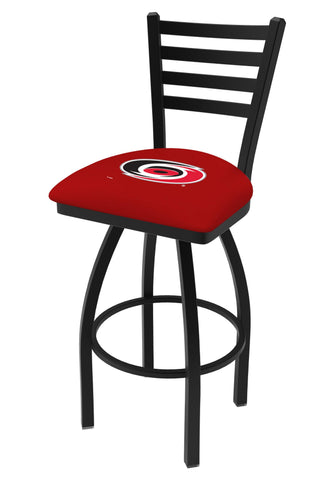 Shop Carolina Hurricanes HBS Red Ladder Back High Top Swivel Bar Stool Seat Chair - Sporting Up