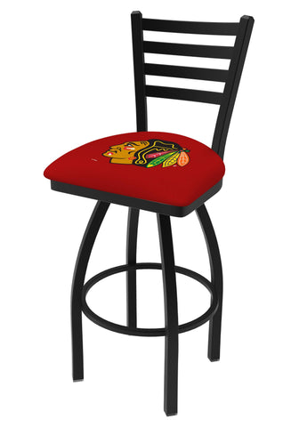 Chicago Blackhawks HBS Red Ladder Back High Top Swivel Bar Stool Seat Chair