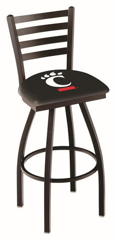 Cincinnati Bearcats HBS Ladder Back High Top Swivel Bar Stool Seat Chair