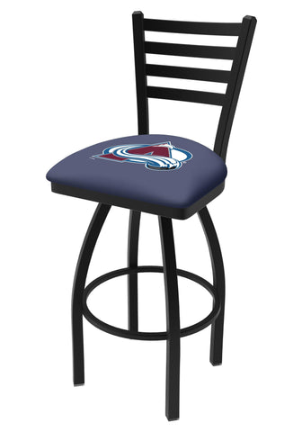 Colorado Avalanche HBS Navy Ladder Back High Top Swivel Bar Stool Seat Chair