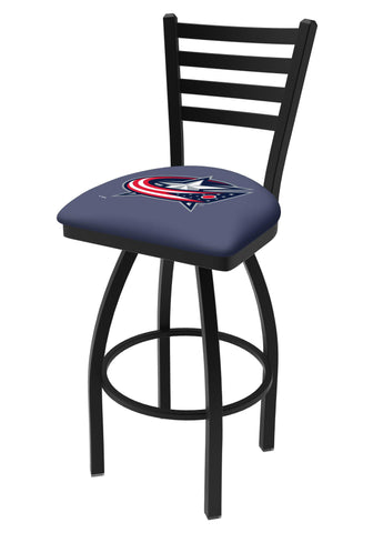 Shop Columbus Blue Jackets HBS Navy Ladder Back High Top Swivel Bar Stool Seat Chair - Sporting Up