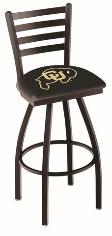 Colorado Buffaloes HBS Ladder Back High Top Swivel Bar Stool Seat Chair