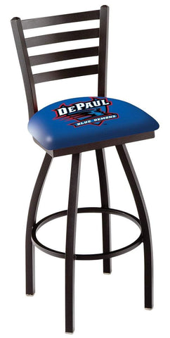 Shop DePaul Blue Demons HBS Ladder Back High Top Swivel Bar Stool Seat Chair - Sporting Up